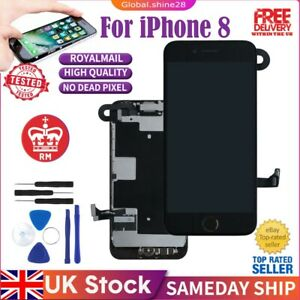 For iPhone 8 Screen Replacement Black LCD Retina Display Digitizer + Home Button