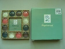 """FORGET-ME-NOT TABLETOP METAL MULTI-COLORED PICTURE FRAME, HOLDS 3"""" X 3"""" PHOTO"""