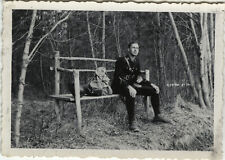 PHOTO ANCIENNE - VINTAGE SNAPSHOT - MILITAIRE CHASSEUR ALPIN REPOS - MILITARY