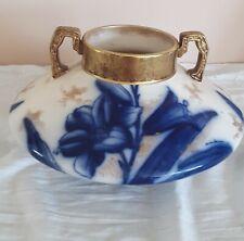 Flow Blue Vase, LILY, by William Adderley