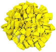 100 Manchons de protection pour fiche prise connecteur RJ45 à sertir jaune