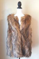 ASOS Womens Vest Faux Fur Sleeveless Size 12