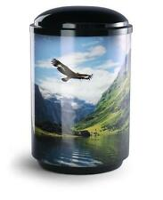 Steel Cremation Ashes Funeral Urn / Casket - Mountain Lake Design