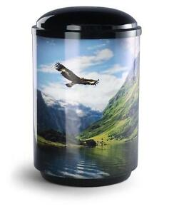 Steel Cremation Ashes Funeral Urn / Casket - Mountain Lake Design