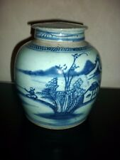 CHINE POT A GINGEMBRE BLEU BLANC ANCIEN CHINA GINGER JAR XIXE SIECLE
