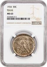 1934 Texas 50c NGC MS63 - Silver Classic Commemorative