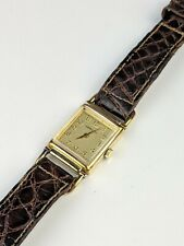 Vtg Hamilton Wilshire Watch Plaque G 20 Microns Thick 18k gold Electro Small