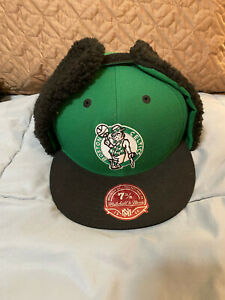 Boston Celtics Fitted Hat Cap The Dog Ear Green by Mitchell & Ness Sz 7 3/8 NEW!