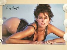 SEXY CINDY CRAWFORD,PHOTOGRAPHED BY MARCO GLAVIANO RARE AUTHENTIC  1991 POSTER