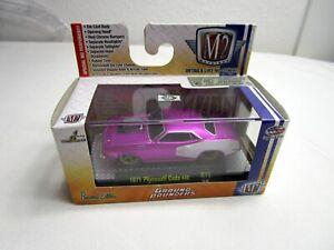 M2 machines Ground Pounders 1971Plymouth Cuda 440 R15 Purple 1/64 New
