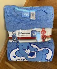 NEW Care Bears Grumpy Cozy Sleep Set fleece Pajamas pjs Ladies Size S SMALL NWT