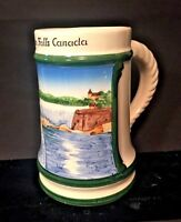 Vtg Niagara Falls Canada Souvenir Beer Mug Stein W Germany Hand Painted Ceramic