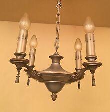 Vintage Lighting 1920 silvery pan chandelier