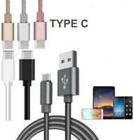 2 Meter Heavy Duty Braided TypeC USB Charger Charging Lead Data Sync Phone Cable