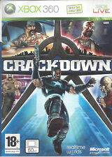 CRACKDOWN for Xbox 360 - with box, poster & manual - PAL