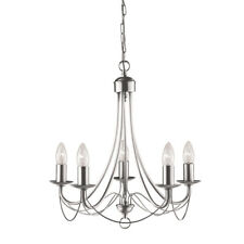 Searchlight Maypole 5 Lights Silver Ceiling Fitting Pendant Chandelier Light New