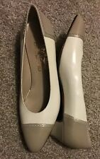 A NEW Pair Of Salvatore Ferragamo Women 8.5B, Two Tone. BEAUTIFUL ! Don't Miss..