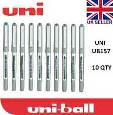 10 x UNI BALL EYE FINE UB-157 ROLLERBALL PEN BLUE COLOUR Cheap!