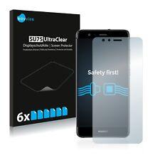 6x Displayschutzfolie für Huawei P10 Lite Schutzfolie Klar Folie Displayfolie