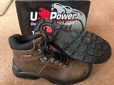 U Power 10034 Concept M Trail Seel Toe Capped Work Boots - Light Brown - Size 8