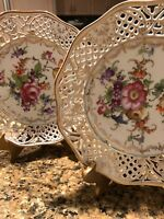 Beautiful handpainted  Vintage  Plates  - EXCELLENT Condition