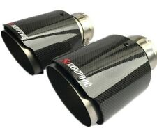 Akrapovic Universal 65mm 89mm Type Carbon Fibre Exhaust Tip Stainless Steel