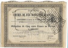 Chemin de Fer D'Orleans a Rouen Obligation DE 500 Frs 1872