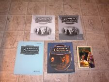 ABEKA 11th GRADE AMERICAN LITERATURE   CLEAN BOOKS NO MISSING PAGES
