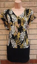 G21 BLACK YELLOW WHITE FLORAL CHIFFON PINK BLOUSE TUNIC TOP CAMI VEST 18