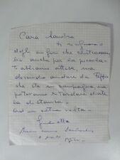Lettera autog. firmata di G. Masina a S. Milo con un'aggiunta firma di Fellini