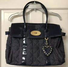 Preowned Mulberry for Target Denim Patent Bayswater Satchel Handbag Purse Bag
