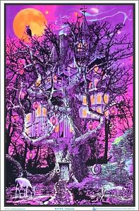 Treehouse Blacklight Poster 23 x 35
