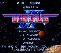 Gradius III 3 - SNES Super Nintendo Game
