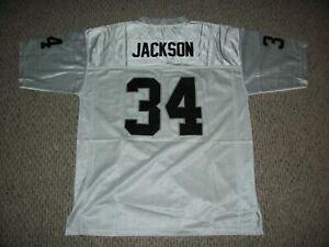 BO JACKSON Unsigned Custom White LA Sewn New Football Jersey Sizes S-3XL