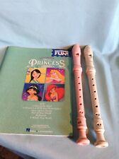 2 Plastic Flutes and  Hal Leonard Disney Princess Favorites Learn & Play Book