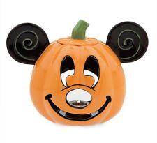 Disney MICKEY MOUSE Pumpkin VOTIVE Candle Holder Jack O Lantern HALLOWEEN DECOR