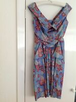 VIVIENNE WESTWOOD ANGLOMANIA dress floral print new with tags size 40 UK 8 EUR36