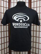 Wondercon 2016 Mens M Shirt Comic Con Los Angeles Plain Black Tee TShirt Casual