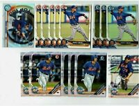 2018 2019 2020 ANDRES GIMENEZ Bowman Chrome Refractor TOP 100 14-CARD RC LOT