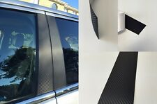 Fits Kia Forte Sedan 2010-2013 Vinyl Black Carbon Fiber Pillar Posts Trim
