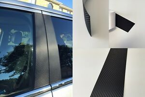 Vinyl Carbon Fiber Pillar Posts Window Door Trim FOR Infiniti G Sedan 07-13