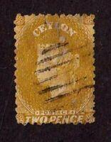 Ceylon stamp #49, used, Queen Victoria, wmk. 1a, 1863-67, SCV $275.00
