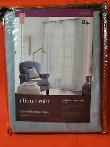 Mineral Polyester Sheer Rod Pocket Single Curtain Panel 55 W x 84 L