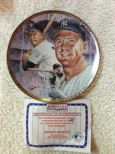 1991 SPORTS IMPRESSIONS MICKEY MANTLE COLLECTOR  PLATE THE GOLDEN YEARS