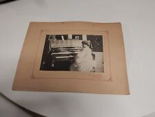 More details for demure girl pianist  circa 1905   large authentic mounted photograph 36 x 27 cm