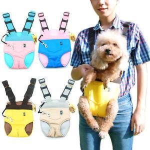 Pet Cat Dogs Carrier Backpack Adjustable Pet Front Carrier Legs Out Travel Bag