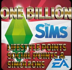The Sims Freeplay ONE BILLION Simeleons, Social and Lifestyle points android iOS