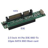2.5 Inch Laptop 44 Pin IDE HDD SSD To 22pin SATA Hard Drive Converter Adapter