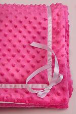 Kuscheldecke  Wagendecke Krabbeldecke in rosa-weiß