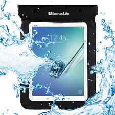 "Black Waterproof Pouch Tablet Bag For Samsung Galaxy Tab S2/Tab A/Tab E 8.0"""